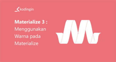 Belajar Materialize #10 : Menggunakan Icon Materialize