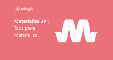 Belajar Materialize #22 : Text Input pada Materialize