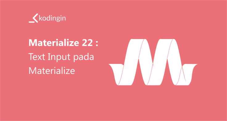 Text Input pada Materialize