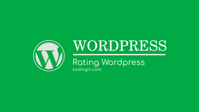 Cara membuat Rating WordPress untuk Optimasi SEO